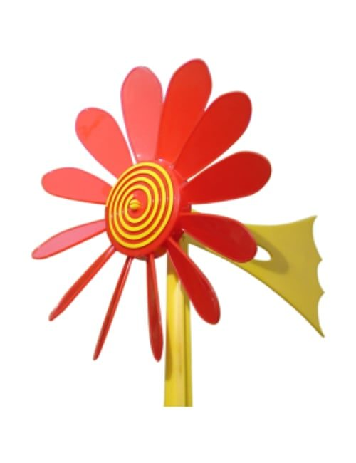 Red Daisy Vane 500x650 - Happy Daisy Windvane