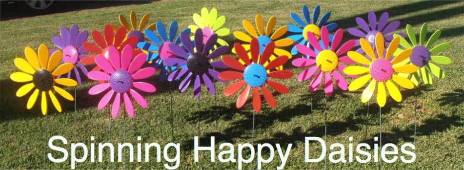 Spinning Happy Daisies