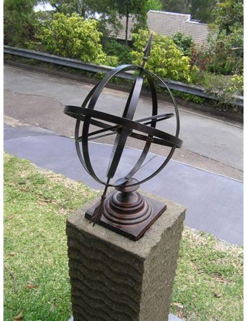 """sundial005 500x650 - Armillary Sphere Sun Dial 24"""""""