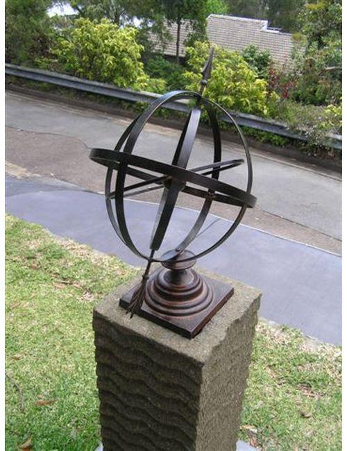 """sundial005 - Armillary Sphere Sun Dial 24"""""""