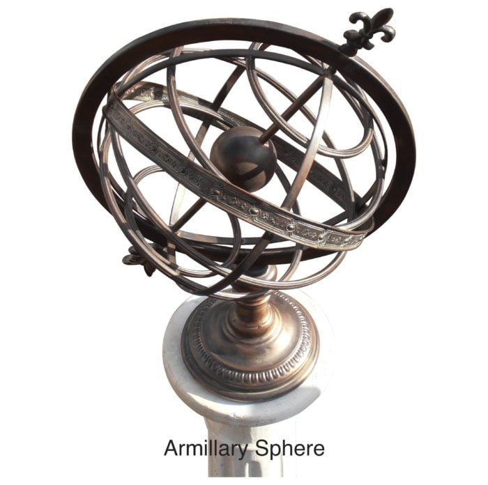 """armillary Sphere 1 035 700x696 - Armillary Sphere  25"""" High"""