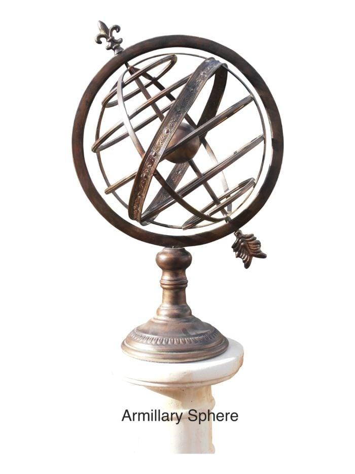 """armillary Sphere 2  030 700x933 - Armillary Sphere  25"""" High"""