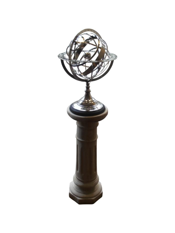 armillary globes equatorial sundials 021 copy 700x933 - Armillary Globe Nickel Plated.
