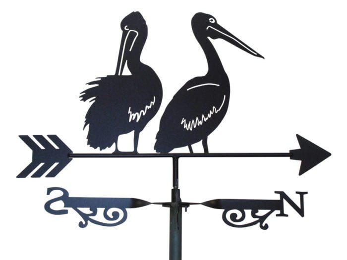 Two Pelicans X 6 700x525 - Pelicans Weathervane 2nd style