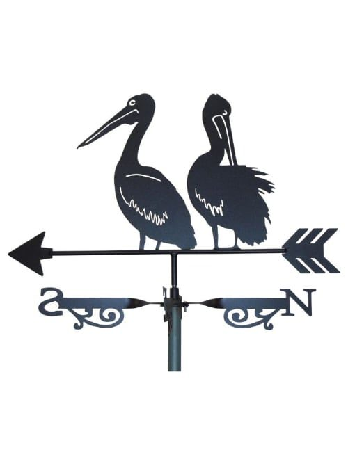 two pelicans 3x 1 500x650 - Pelicans Weathervane 2nd style