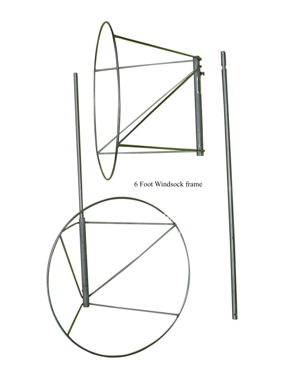 6 foot frame X 1 - Commercial Windsock Frames (4, 6, 8, and 12 foot)