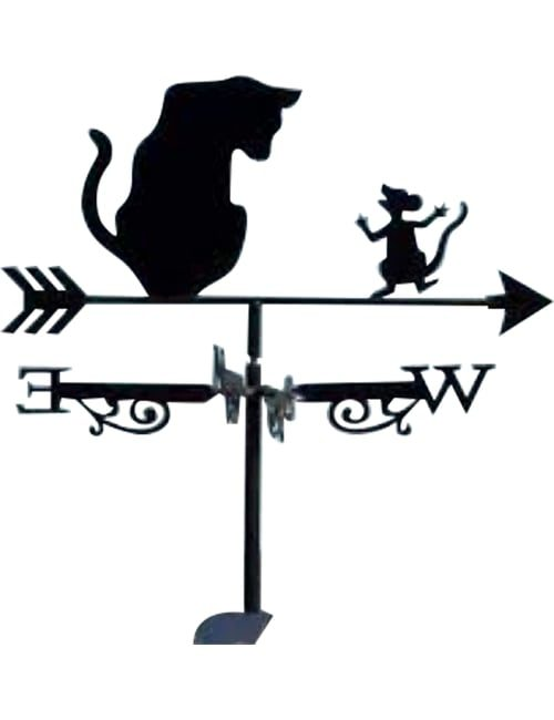 Cat mouse copy 500x650 - Cat and Mouse Weathervane