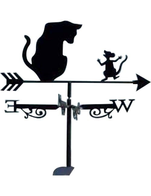 Cat mouse copy - Cat and Mouse Weathervane