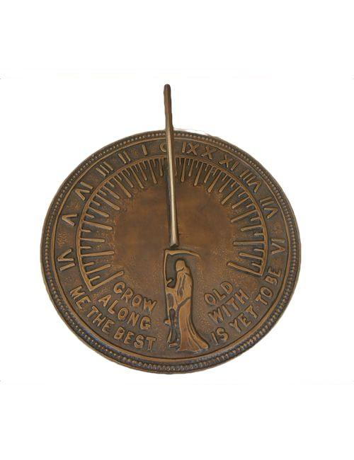 Sun dials8 2 500x650 - Large Brass Finish Sun Dial