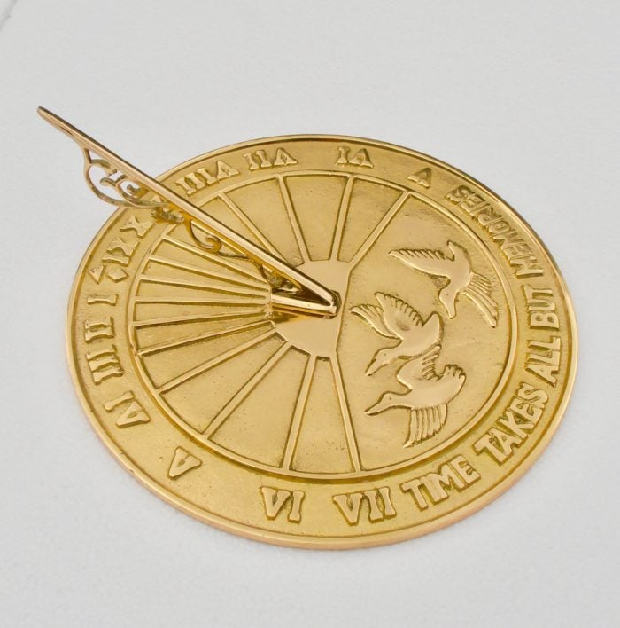 Torough Breds 015 700x708 - Polished Brass Sun Dial