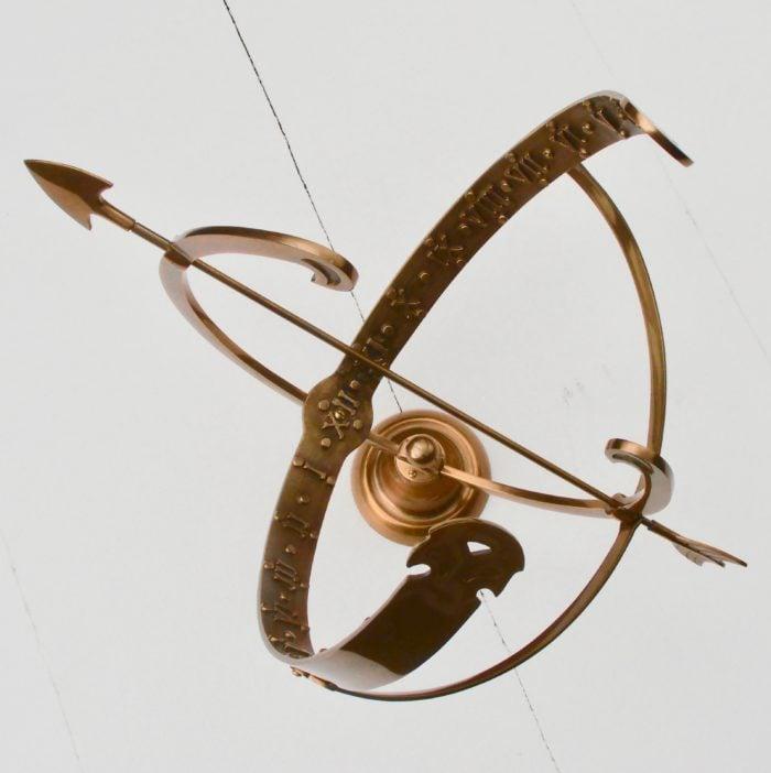 Polished Brass Equatorial SD 8 700x702 - Equatorial Sun Dial