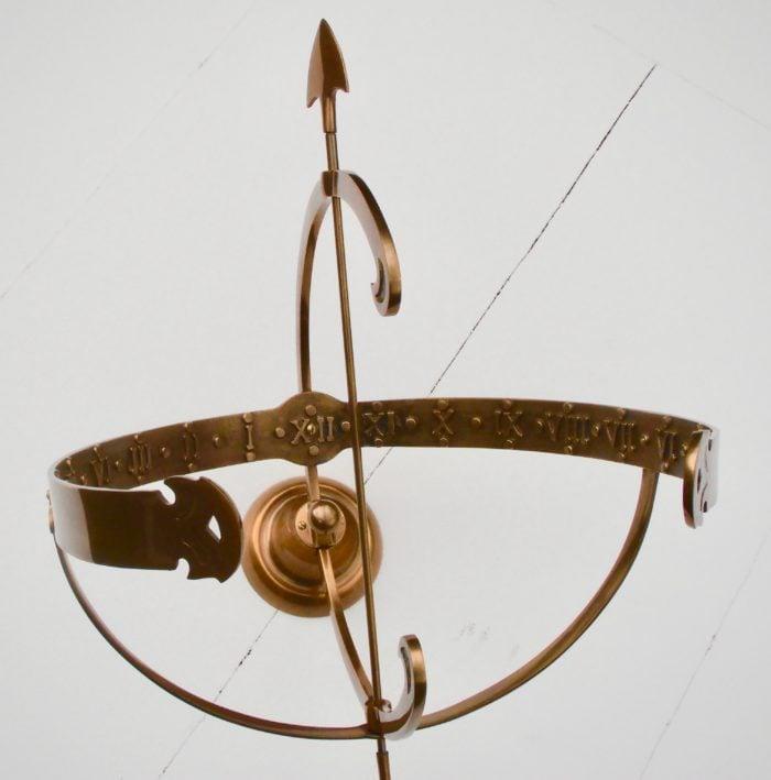 Polished Brass Equatorial SD 9 700x709 - Equatorial Sun Dial