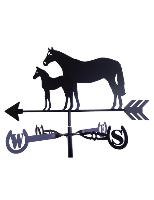 Thoroughbred Right 1 500x650 - Thoroughbred Mare & Foal Weathervane