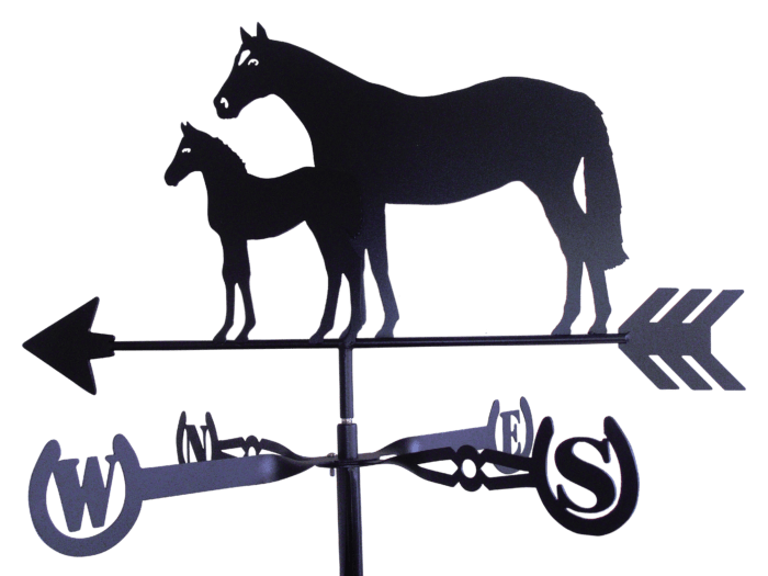 Thoroughbred Right 1 700x525 - Thoroughbred Mare & Foal Weathervane