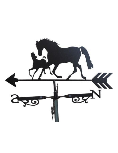 mare and foal 7x 1 - Mare and Foal Weathervane