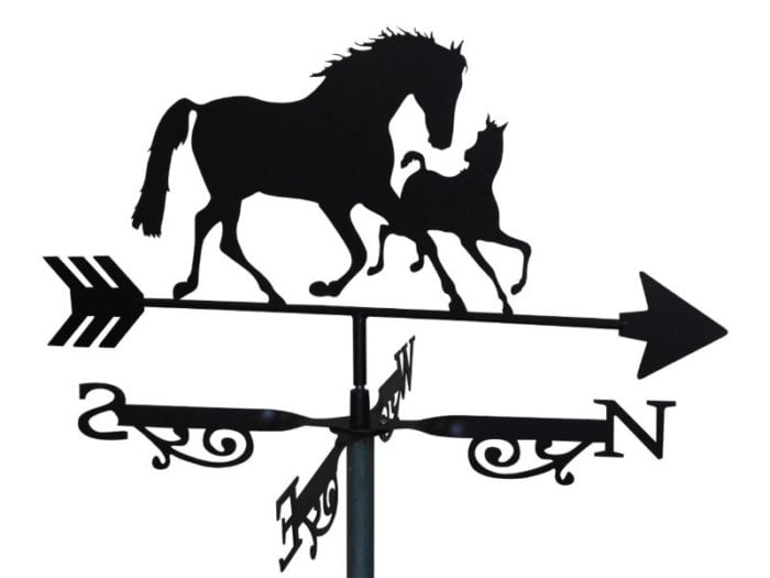 mare and foal 9x 700x525 - Mare and Foal Weathervane