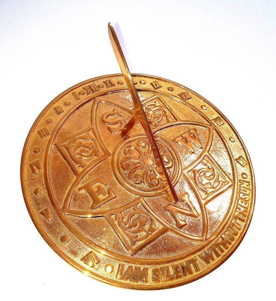 I am Silent Pol 1 1 942x1024 - Majestic Polished Brass Sundial