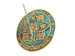 I am Silent Verdie 4 300x225 - Majestic Antiqued Brass Sundial