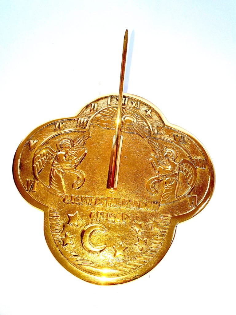 Celestial Polished Brass Sundial