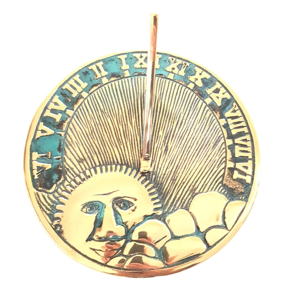 Sunface Verdie 2 977x1024 - Sun Face Sundial Antiqued