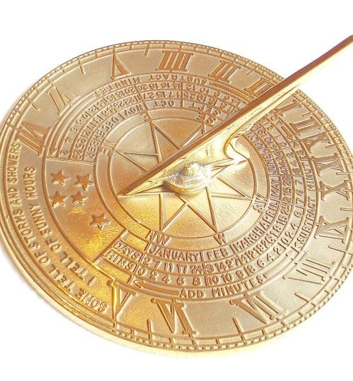 Classic Large Brass Sundial 3 019 1 500x540 - Australian Weathervanes, Sundials & Windsocks