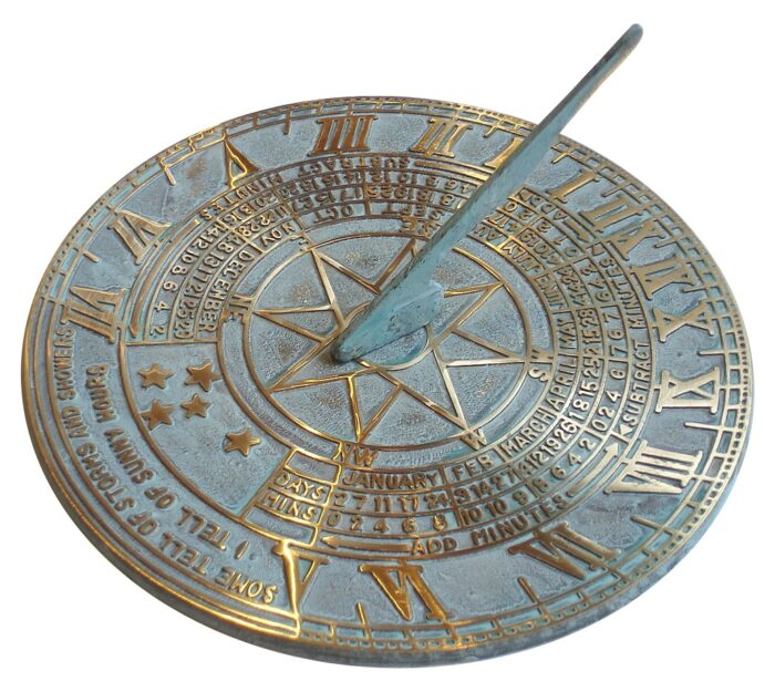Antiqued Brass Sundial