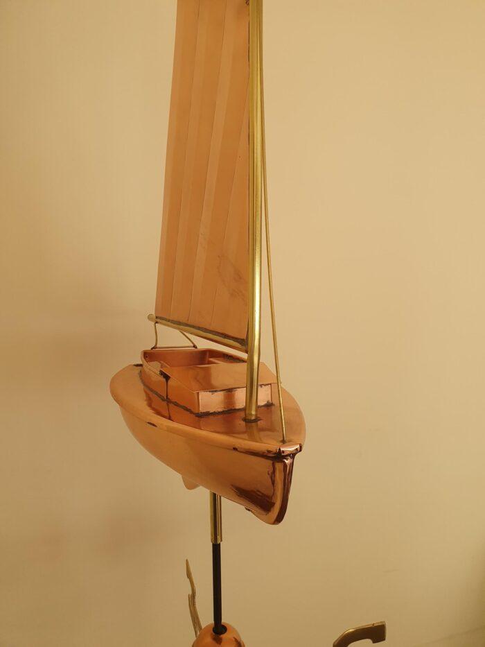Catboat 2 700x933 - Catboat Weathervane Polished Copper