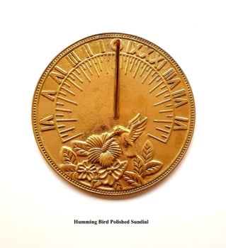 Humming Bird Polished Sundial